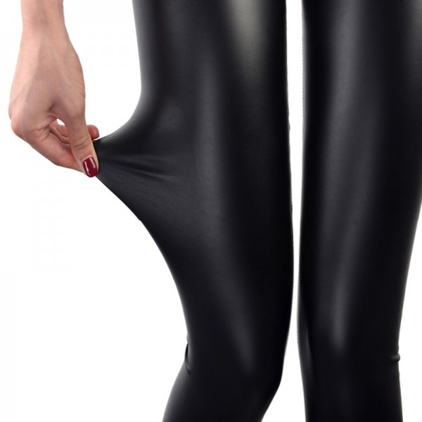 Faux Leather Leggings Navy Blue Sexy Women Leggins Thin Black Leggings Leggins Leggings Stretchy Leggins Push Up Extra Image 1