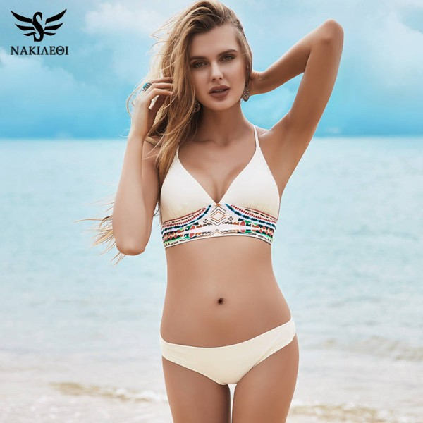 d87ca0aa53 Female Two Piece Swimsuit Push Up Bandage Brazilian Bikini Summer Beach Bathing  Suit Low Waist Wire ...