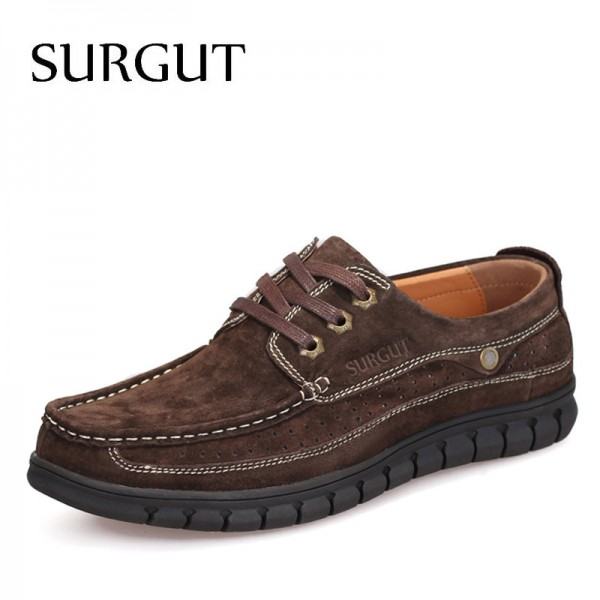Flat Shoes Men Oxford Shoes British Fashion Suede Cow Split Leather Breathable Comfortable Business For Men Shoes Extra Image 1
