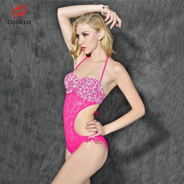 Floral Print One Piece Swimsuit For Women Sexy Summer Bathing Suits Beach Crochet Vintage Swimwear Extra Image 1
