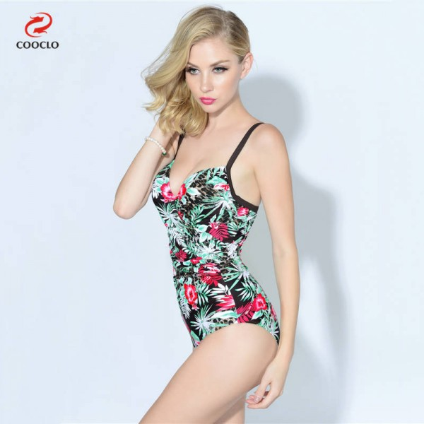 Floral Printed Backless Swimwear For Ladies Vintage One Piece High Quality Push Up New Arrival Bikini Set Extra Image 1