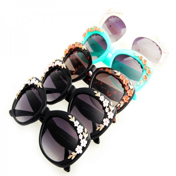 Flower Decoration Butterfly Sunglasses Cat Eye Retro Goggles For Women Latest UV400 Polarized Sun Shades Extra Image 1