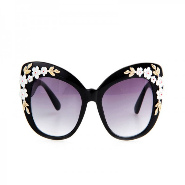 Flower Decoration Butterfly Sunglasses Cat Eye Retro Goggles For Women Latest UV400 Polarized Sun Shades Extra Image 2
