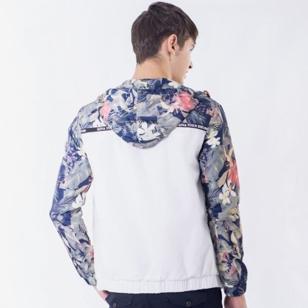 Flower Printed New Jacket Men Fashion Casual Loose Outwear Mens Jacket Sportswear Bomber Jacket Mens jackets and Coats Extra Image 6