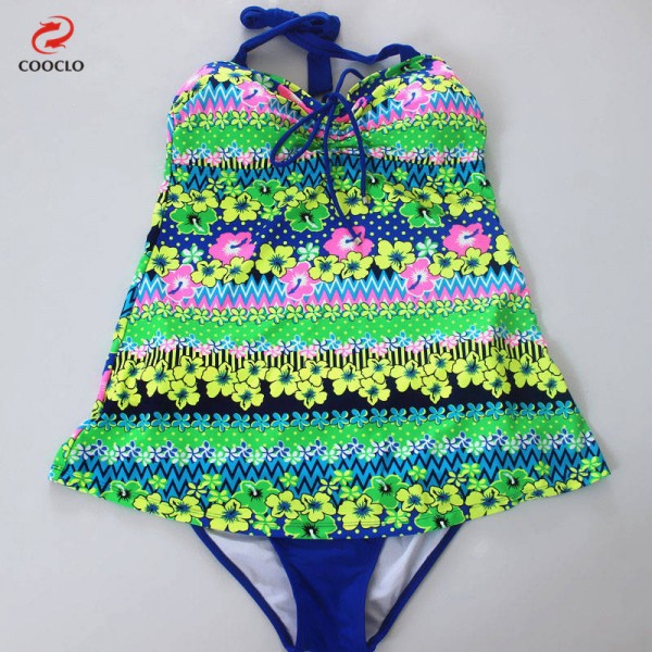 Flower Printed Plus Size Swimsuits For Women Two Piece Tankini Large Cup Comfortable Sexy Tankini Extra Image 3