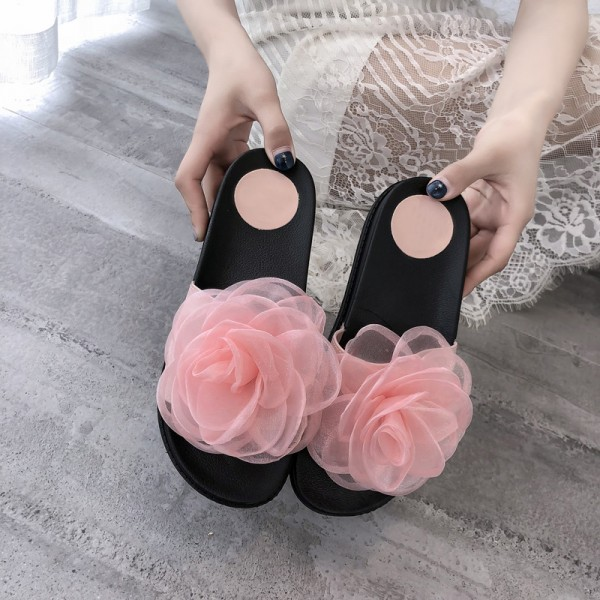 Flower Women Summer Slippers Casual Beach Shoes Woman Slip On Solid Comfort Platform Creepers Size 35 39 Extra Image 5