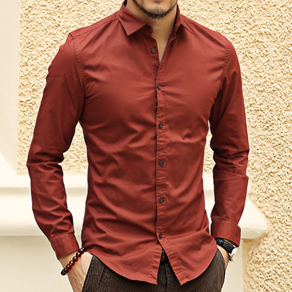French Cuff Button Men Dress Shirts New spring Luxury Slim Fit Long Sleeve Brand Formal Business Fashion Shirts Extra Image 4