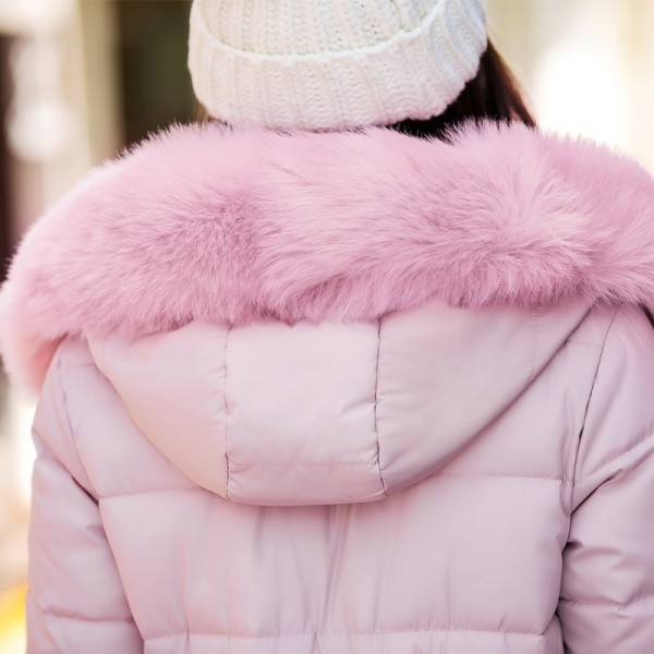 Fur collar long hooded warm thicken cotton padded high quality women winter jacket womens coats parkas jackets Extra Image 5