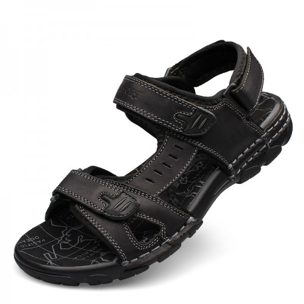 Genuine Leather Men Sandals New Summer Walking Sandals for Man Fashion Brand Outdoor Male Casual Shoes