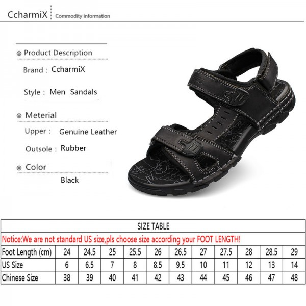 Genuine Leather Men Sandals New Summer Walking Sandals for Man Fashion Brand Outdoor Male Casual Shoes Extra Image 5
