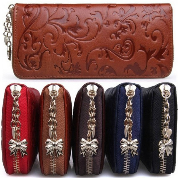 Genuine Leather Wallets For Women Vintage New Fashion Long Clutch Retro Purse Cardholders Thumbnail