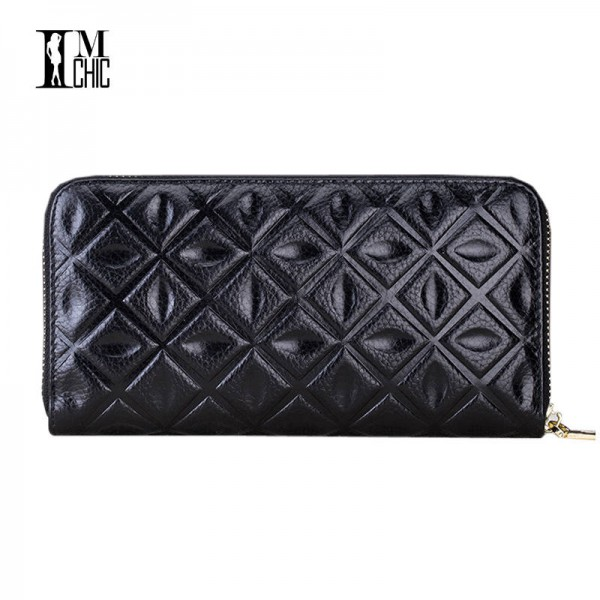 e89b783923c1 Genuine Leather Women Clutch Elegant Top Cowhide Slim Organizer Purse  Female Top Quality Leather Clutch