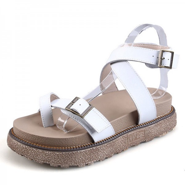 Gladiator Sandals 2018 New Summer Flip Flops Platform Flats Shoes Woman Casual Creepers Vintage Women Shoes Extra Image 2