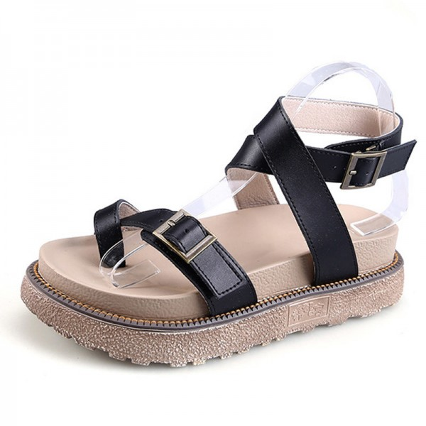 Gladiator Sandals 2018 New Summer Flip Flops Platform Flats Shoes Woman Casual Creepers Vintage Women Shoes