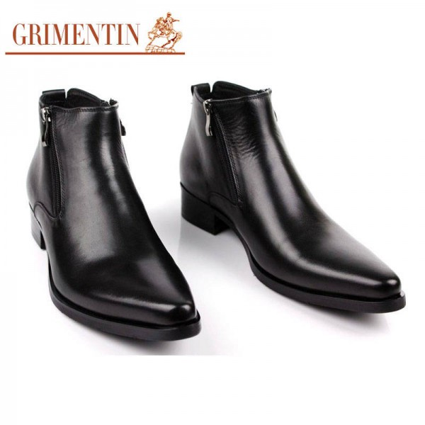 Grimentin Boots Fashion Ankle Shoes Comfortable Zip Pointed Tip Wedding New For Men Extra Images 0