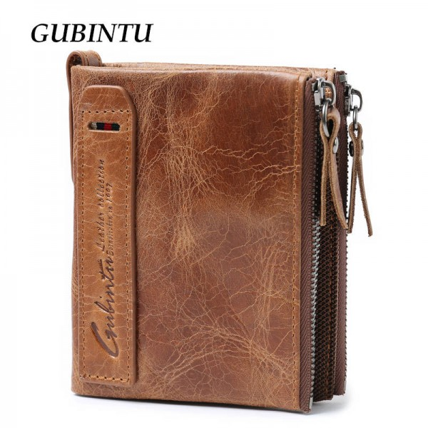 Gubintu Genuine Leather Wallets Vintage High Quality Purses For Men Thumbnail
