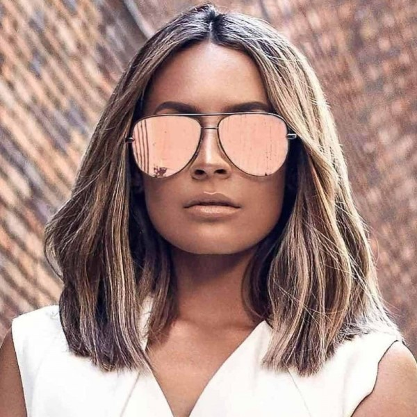 Gun Pink Sunglasses For Women Pilot Aviator Eyeglasses Top Fashion Silver Metal Women Sunglasses For Ladies Extra Image 4