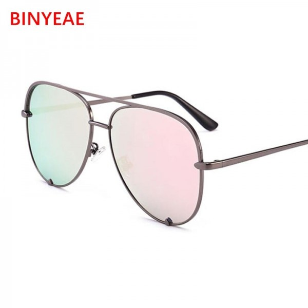 Gun Pink Sunglasses For Women Pilot Aviator Eyeglasses Top Fashion Silver Metal Women Sunglasses For Ladies Extra Image 6