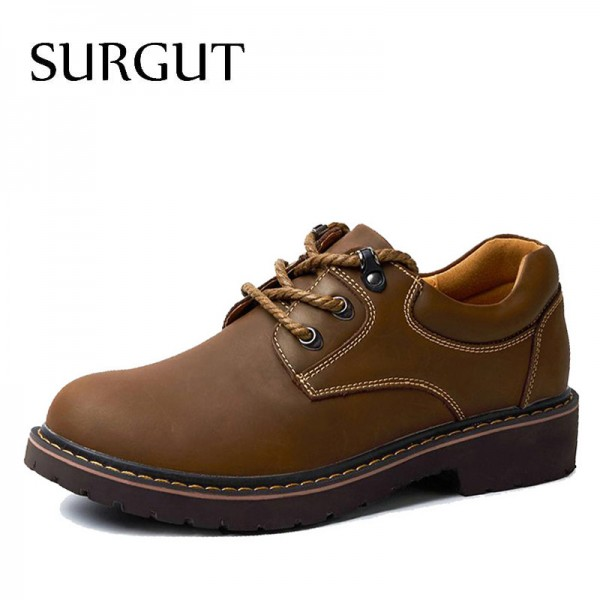 Handmade Breathable Mens Oxford Top Quality Dress Shoes Men Flats Fashion Genuine Leather Casual Shoes Men Extra Image 1