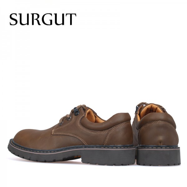 Handmade Breathable Mens Oxford Top Quality Dress Shoes Men Flats Fashion Genuine Leather Casual Shoes Men Extra Image 2
