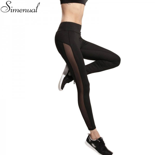 Harajuku Athlete Sportswear Mesh Splice Fitness Slim Legginds For Women Thumbnail