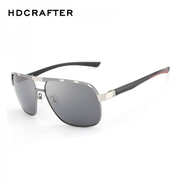 HDCRAFTER Polarized Mens Sunglasses Classic Driving Plastic Frame UV400 High Definition Goggles For Men Extra Image 1