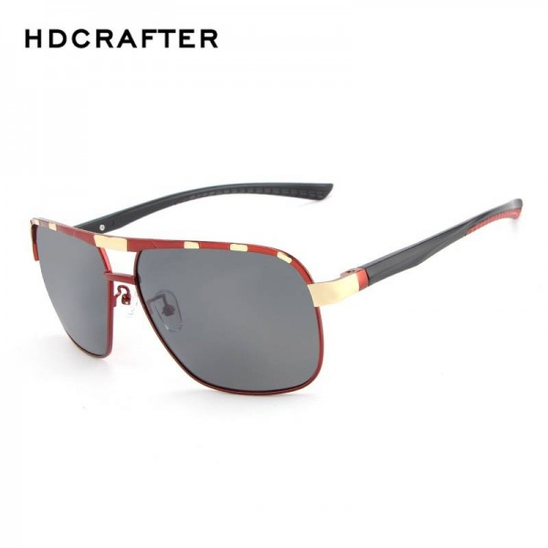 HDCRAFTER Polarized Mens Sunglasses Classic Driving Plastic Frame UV400 High Definition Goggles For Men Extra Image 2