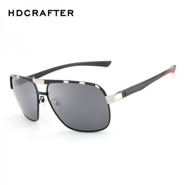 HDCRAFTER Polarized Mens Sunglasses Classic Driving Plastic Frame UV400 High Definition Goggles For Men Extra Image 3