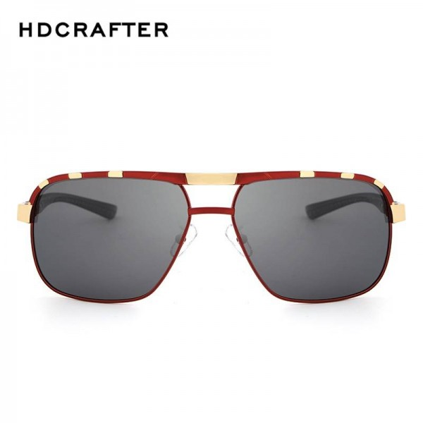 HDCRAFTER Polarized Mens Sunglasses Classic Driving Plastic Frame UV400 High Definition Goggles For Men Extra Image 5