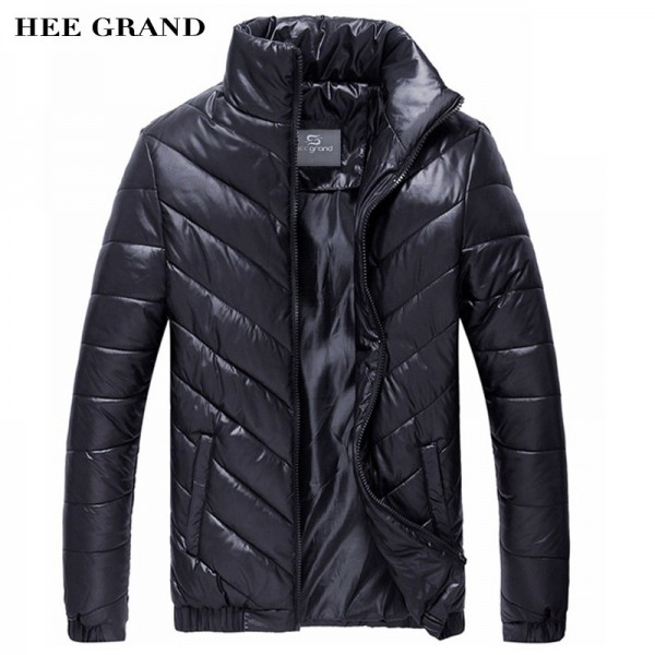 HEE GRAND Hot Sale Men Winter Coat Padded Jacket Autumn Winter Outwear Casual Parkas Solid Color Extra Image 1