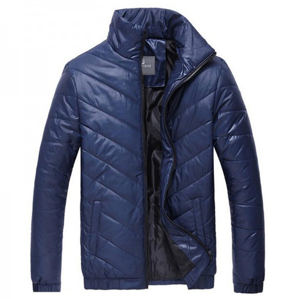 HEE GRAND Hot Sale Men Winter Coat Padded Jacket Autumn Winter Outwear Casual Parkas Solid Color Extra Image 3