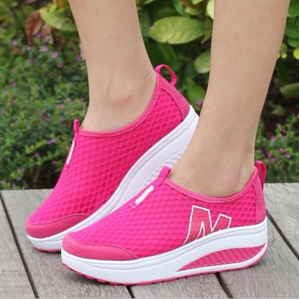 Height Increasing Shoes Womens Casual Shoes Sport Fashion Walking Shoes for Women Swing Wedges Shoes Breathable
