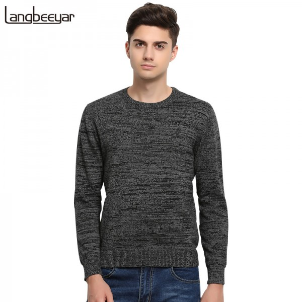 High Grade New Autumn Winter Fashion Brand Clothing Men Sweaters Solid Color Slim Fit Men Pullover Knitted Sweater Men Extra Image 1