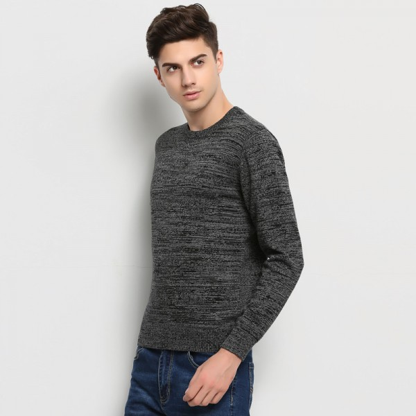 High Grade New Autumn Winter Fashion Brand Clothing Men Sweaters Solid Color Slim Fit Men Pullover Knitted Sweater Men Extra Image 4