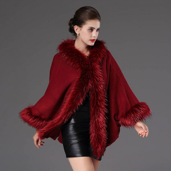 High Quality Autumn Winter Long Knitted Poncho Wool Cashmere Sweater For Women Extra Images 3