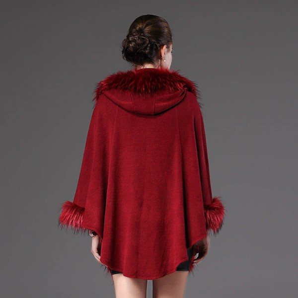 High Quality Autumn Winter Long Knitted Poncho Wool Cashmere Sweater For Women Extra Images 4