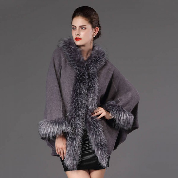 High Quality Autumn Winter Long Knitted Poncho Wool Cashmere Sweater For Women Extra Images 5