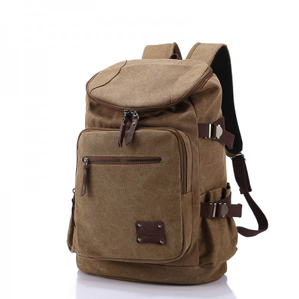 High Quality Backpack Zipper Solid Travel Bags Canvas Backpack For Men Thumbnail