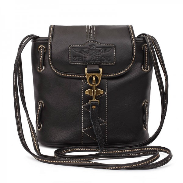 High Quality Pu Leather Handbags Shoulder Bags Vintage Crossbody Women Thumbnail