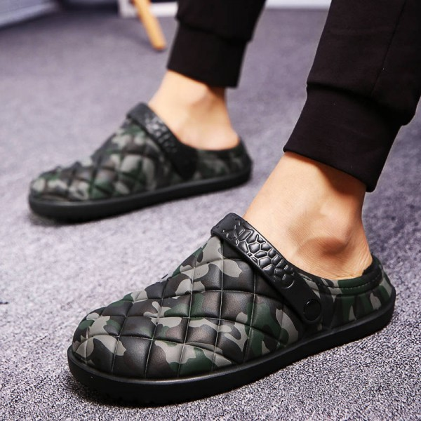 High Quality Warm Home Slippers Camouflage Cotton Leisure Cotton Padded Men Thumbnail