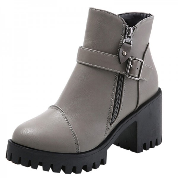 High Quality Women Winter Boots Platform High Heels Ankle Boots Women Fashion Ladies Pumps Zipper Shoes