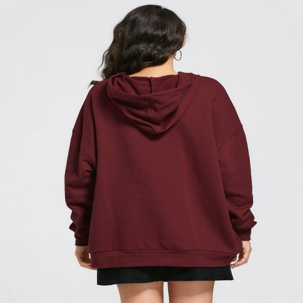 Hoodie Sweatshirt Women 2018 Autumn Winter Harajuku Pocket Oversized Long Hoodie Loose Pullovers Outerwear Jacket Extra Image 4