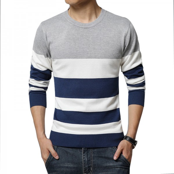 35f2bddae Buy Horizontal Striped T Shirts For Men High Quality O Neck Casual Tees  2018 Long Sleeved Mens Sweatshirts Pullovers