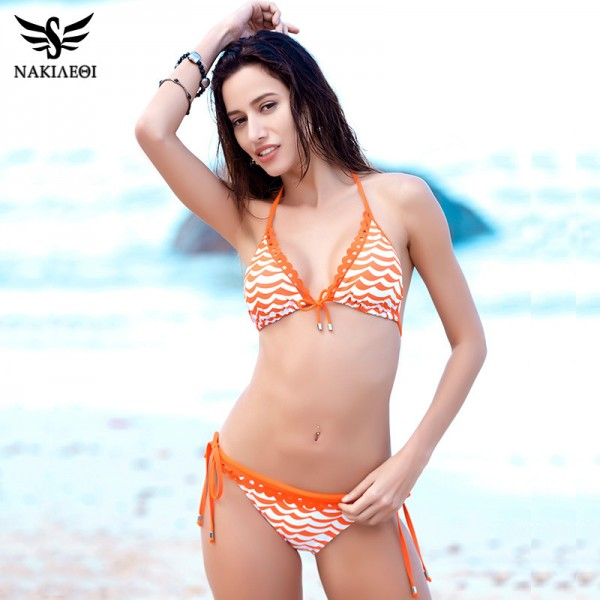 Hot Bikini Women Swimsuit Swimwear Brazilian Bikini Set Halter Top Bathing Suit Bordered Beachwear Swim Biquini