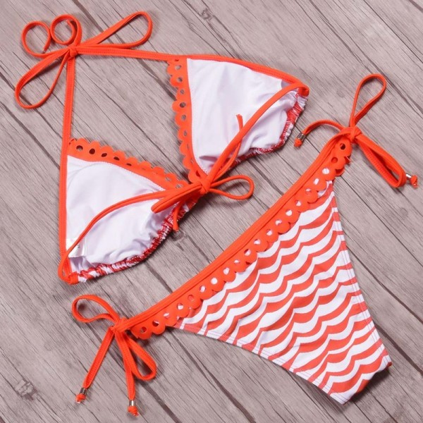 Hot Bikini Women Swimsuit Swimwear Brazilian Bikini Set Halter Top Bathing Suit Bordered Beachwear Swim Biquini Extra Image 6