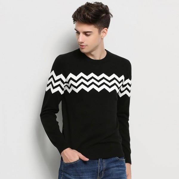 Hot New Autumn Winter Fashion Brand Clothing Men Knitted Sweater O Neck Slim Fit Pullover Men Jacquard Sweaters For Men Extra Image 3