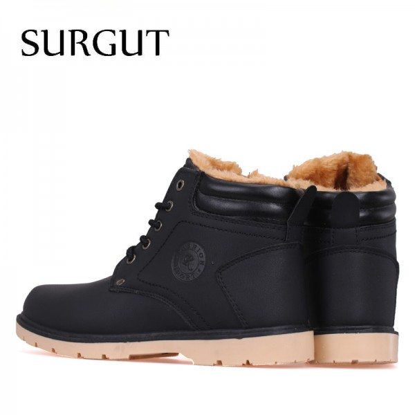 Hot Newest Keep Warm Men Winter Boots High Quality Pu Leather Casual Boots Working Fashion Boots Essential Shoes Extra Image 2