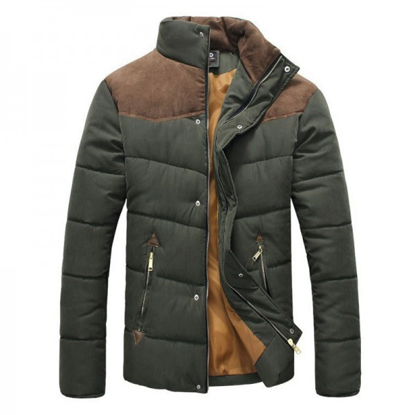 Hot Sale Men Winter Splicing Cotton Padded Coat Jacket Winter Size M XXL Parkas High Quality Male Coats Outwear Extra Image 4