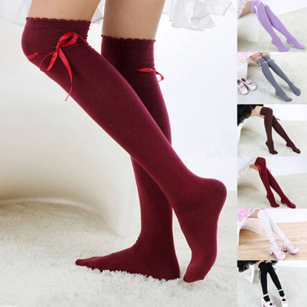 04983e098a Hot Sale Women Girls Thigh High Cotton Leggings Stockings Warm Comfortable  For Ladies Thumbnail ...