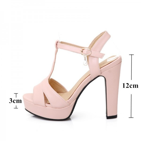 Hot Summer Women Sandals Fashion High Heels Sandal Sexy Gladiator T Strap Platform Party Dress Shoes Woman Extra Image 1
